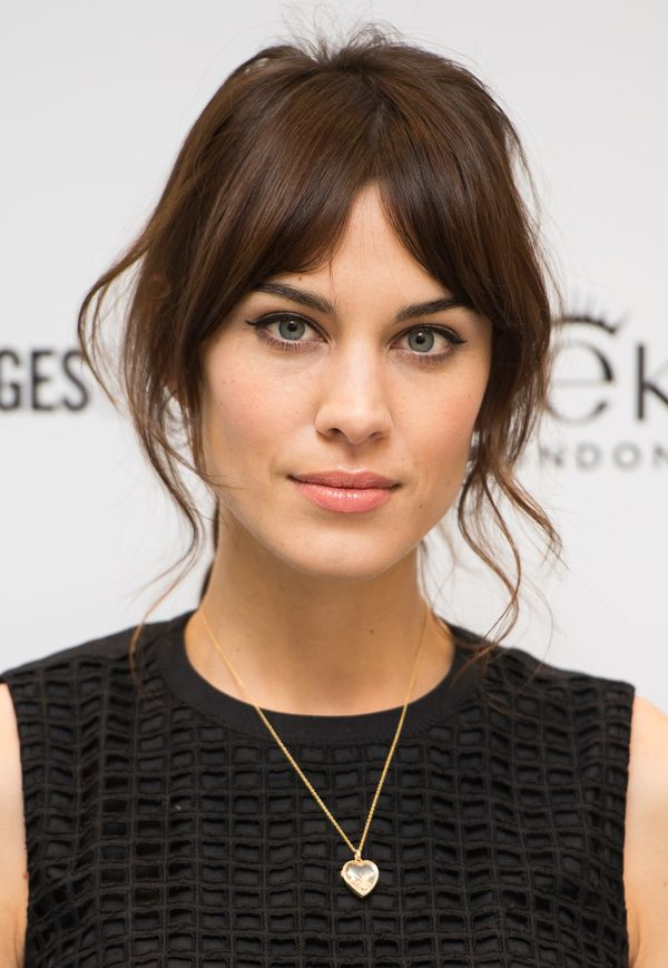 Alexa Chung attends a photocall to launch her new makeup collection in collaboration with Eyeko at Selfridges in London, Engl