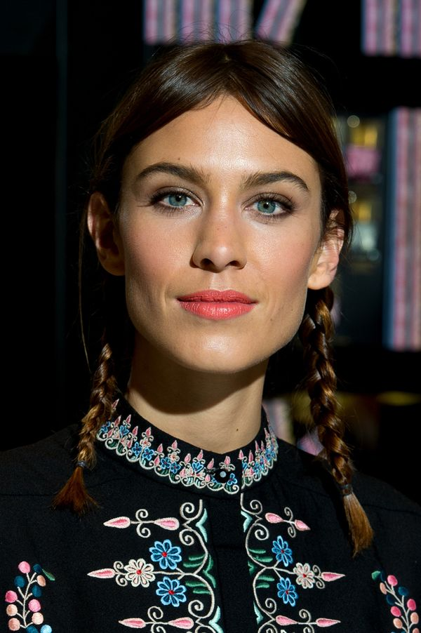 Alexa Chung attends a photocall to launch Nails Inc: The Alexa Editions at Selfridges in London, England.