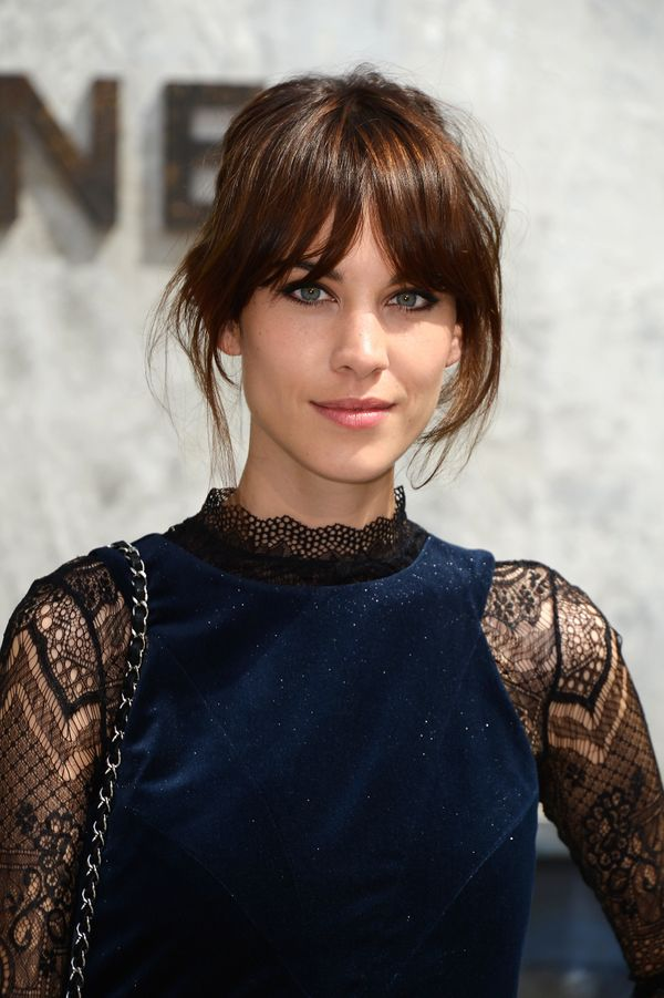 Alexa Chung attends the Chanel show as part of Paris Fashion Week Haute-Couture Fall/Winter 2013-2014 at Grand Palais in Pari