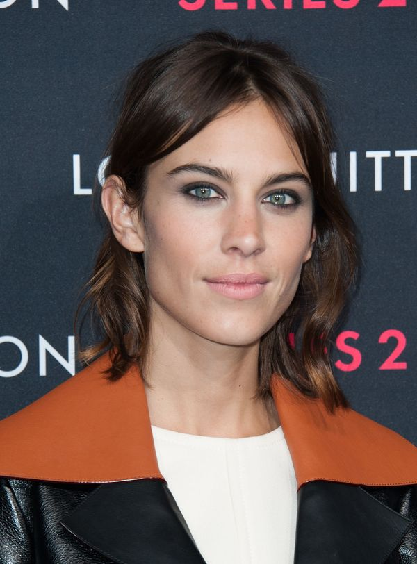 """Alexa Chung arrives at Louis Vuitton """"Series 2"""" The Exhibition in Hollywood, California."""
