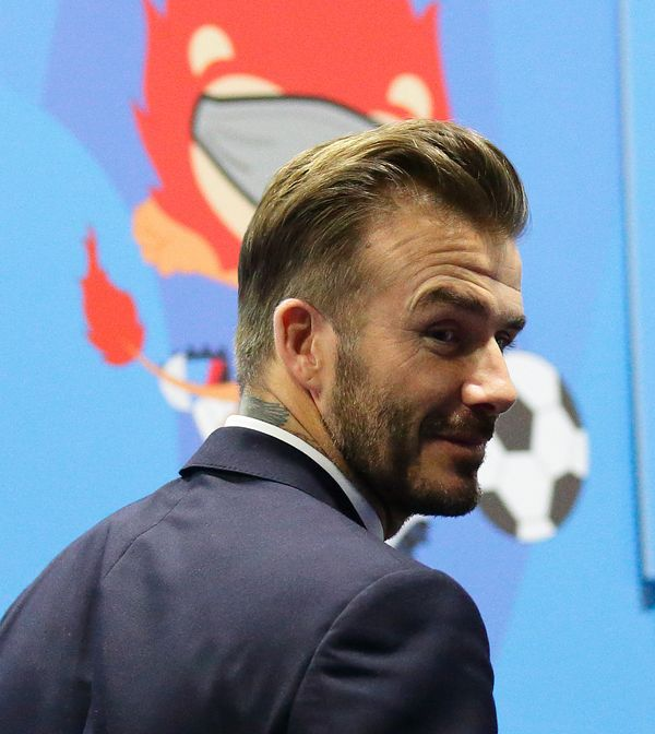 <strong>Who:</strong> David Beckham<strong><br><br>What to say: </strong>Ask for high fades on the sides (but not a