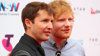 SYDNEY, AUSTRALIA - NOVEMBER 26:  Ed Sheeran and James Blunt arrive for the 29th Annual ARIA Awards 2015 at The Star on November 26, 2015 in Sydney, Australia.  (Photo by Graham Denholm/Getty Images)