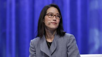 BOSTON, MA - DECEMBER 10:  Enterpreneur, investor, writer Ellen Pao speaks on stage during Massachusetts Conference For Women at Boston Convention & Exhibition Center on December 10, 2015 in Boston, Massachusetts.  (Photo by Marla Aufmuth/Getty Images for Massachusetts Conference for Women)