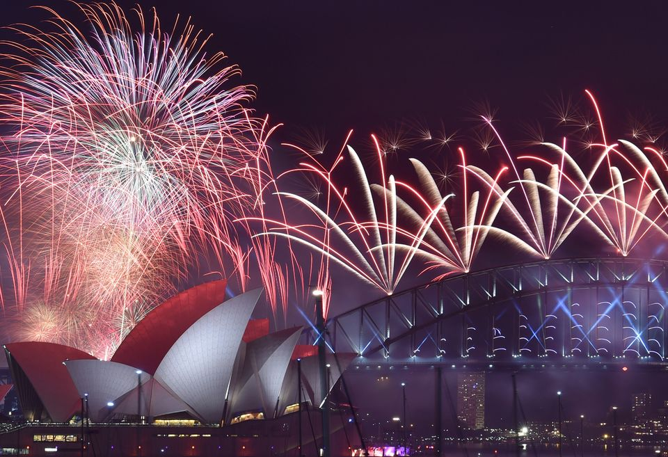 Fireworks light up the sky over Sydney's Opera House and Harbour Bridge during New Year's celebrations in Sydney on Jan. 1, 2