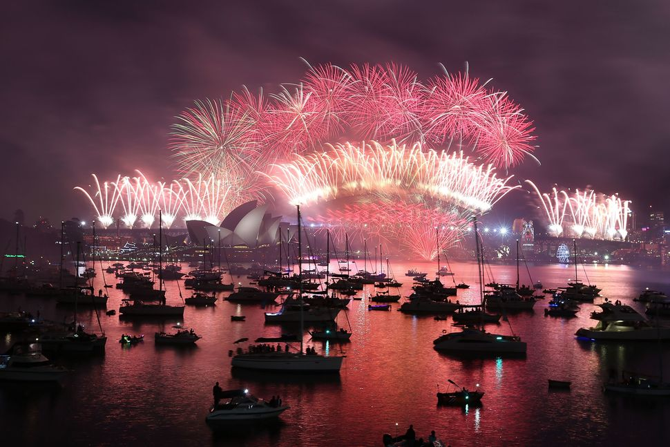 The fireworks on New Year's Eve on Jan. 1, 2016, in Sydney, Australia.