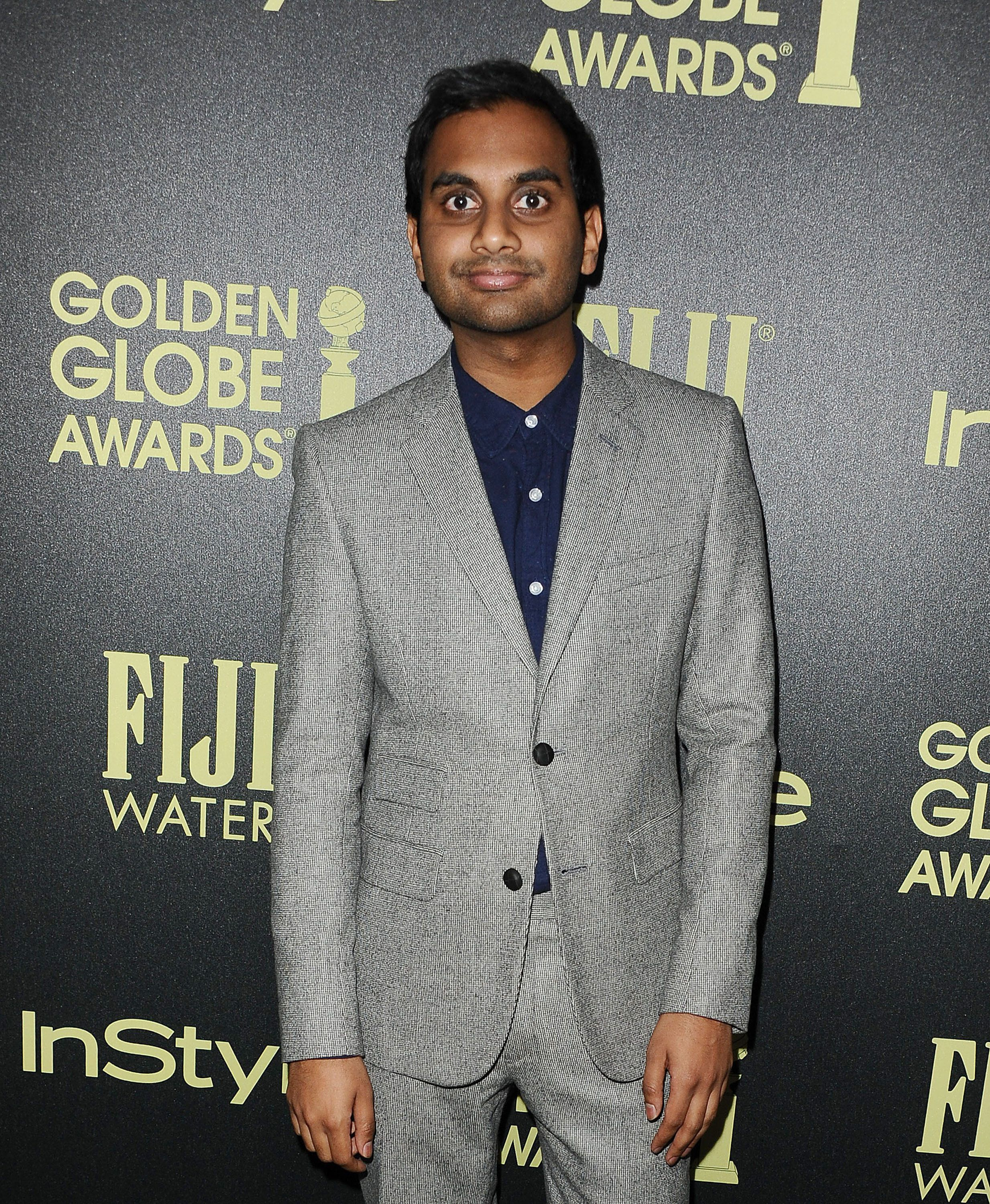 WEST HOLLYWOOD, CA - NOVEMBER 17:  Actor Aziz Ansari attends the Hollywood Foreign Press Association and InStyle's celebration of the 2016 Golden Globe award season at Ysabel on November 17, 2015 in West Hollywood, California.  (Photo by Jason LaVeris/FilmMagic)