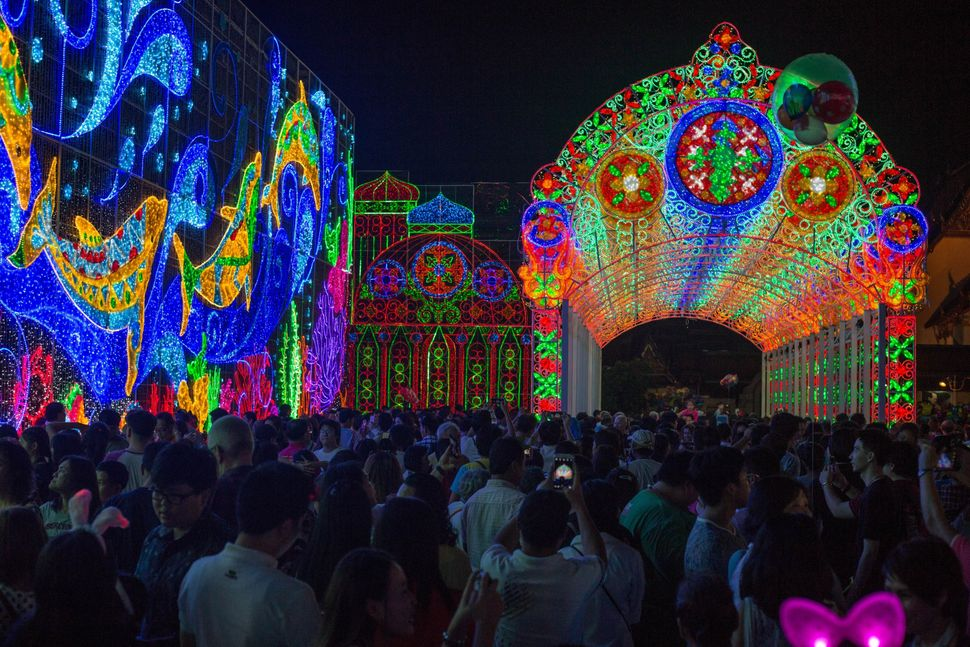 Thousands of people attend 'The Bangkok Light of Happiness' new year celebrations organized by the Bangkok Metropolitan Admin