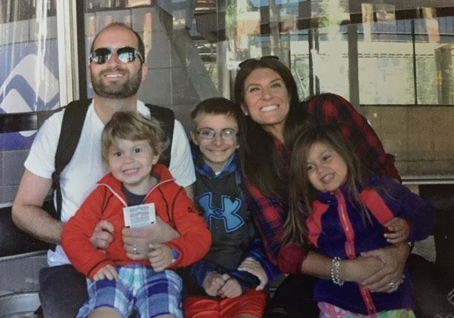 Katie, her husband Josh and their kids.