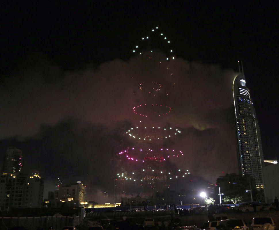 Fireworks explode on theBurj Khalifa, the world's tallest tower in Dubai, on Jan. 1, 2015.