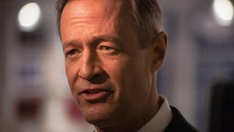 SAINT ANSELM COLLEGE, MANCHESTER, NEW HAMPSHIRE, UNITED STATES - 2015/12/19: Former Maryland Governor Martin O'Malley speaks with reporters after the third Democratic presidential debate. (Photo by Luke William Pasley/Pacific Press/LightRocket via Getty Images)