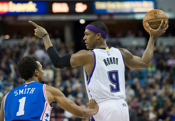 """""""He's got such leadership qualities,"""" Kings Associate Coach Chad Iske tells HuffPost ofRondo. """"He sees the angles. He s"""