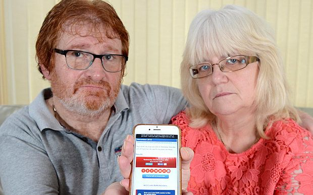 David and Edwina Nylan believe they've been cheated out of $52 million lottery jackpot because of a faulty app.