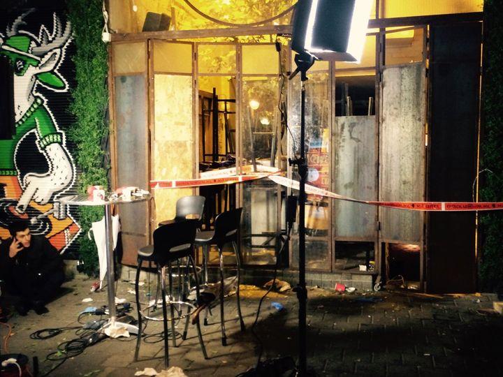 A gunman opened fire on Hasimta bar in Tel Aviv on Friday, Jan. 1, 2016.