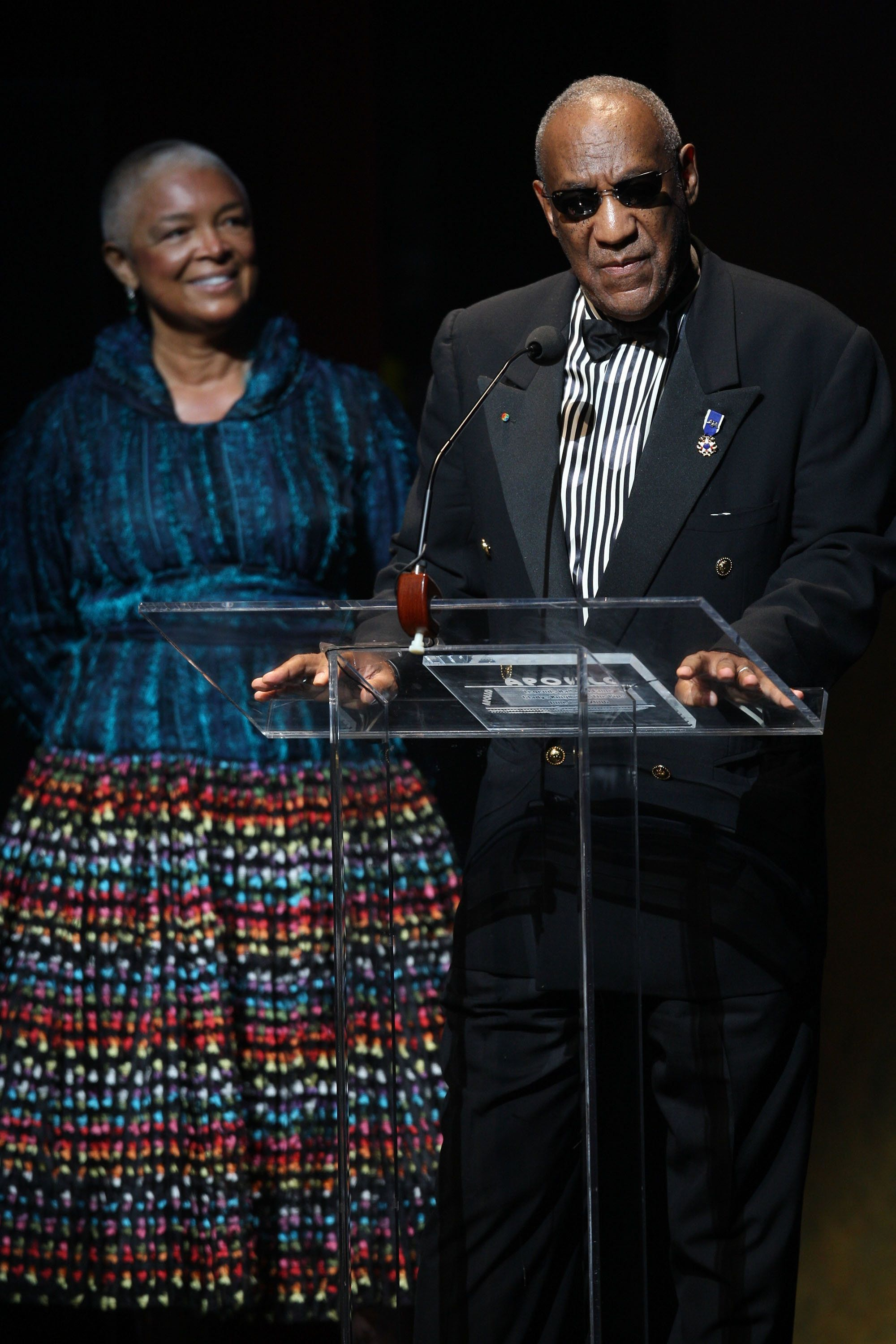 Camille Cosby, left, has been ordered to testify in a defamation suit against her husband.