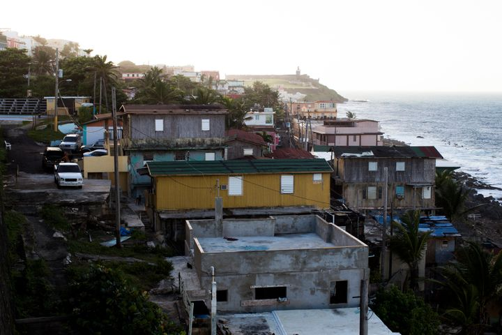 The La Perla shanty town sits just a few steps from the upscale neighborhoods of Condado and Old San Juan on Nov. 12, 2013, i