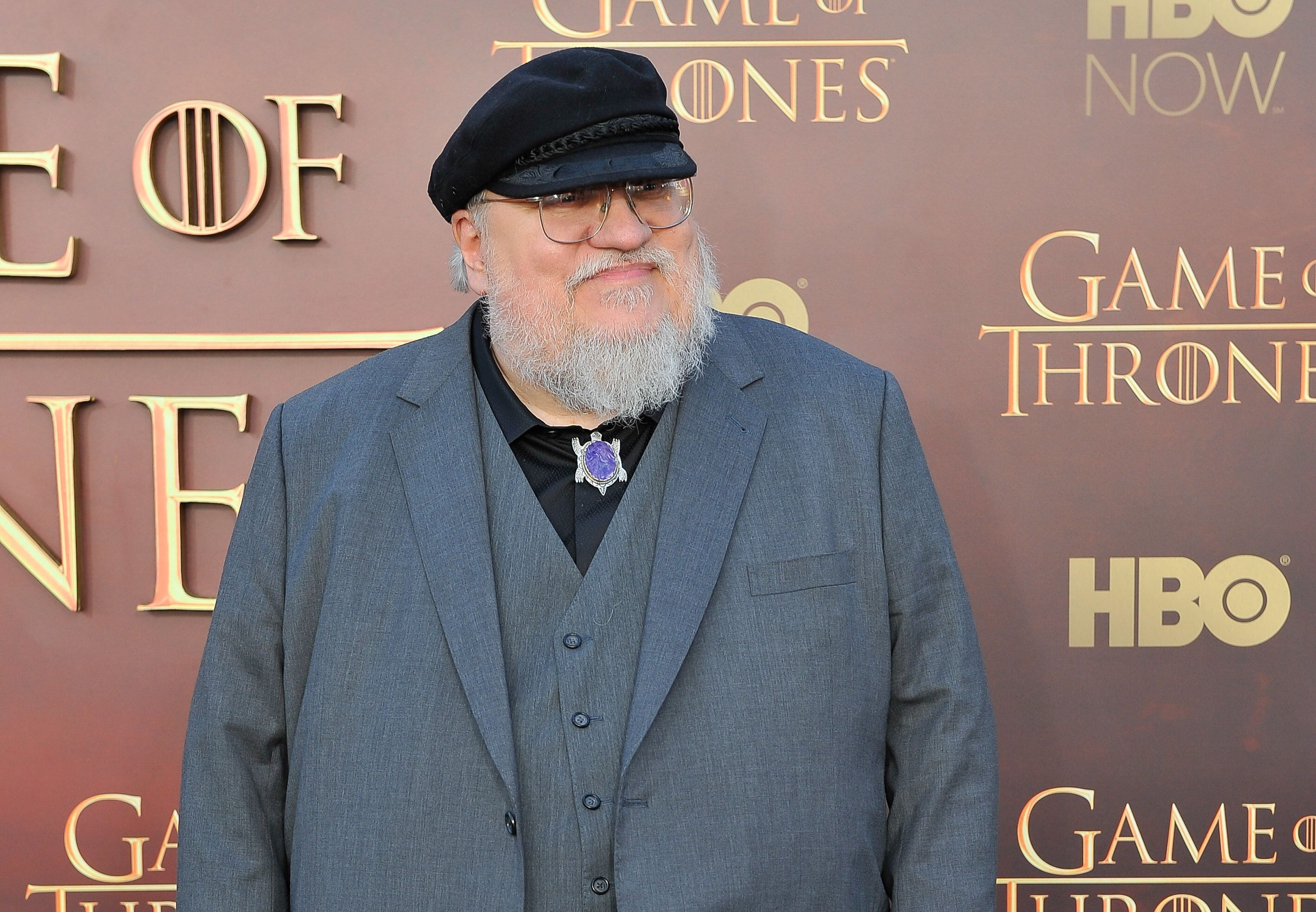 SAN FRANCISCO, CA - MARCH 23: George R.R. Martin Writer/Co-Executive Producer attends HBO's 'Game Of Thrones' Season 5 San Francisco Premiere at San Francisco Opera House on March 23, 2015 in San Francisco, California. (Photo by Steve Jennings/WireImage)