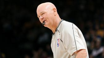 OAKLAND, CA - NOVEMBER 5: NBA Referee Joey Crawford stands on the court during a game between the Los Angeles Clippers and Golden State Warriors on November 5, 2014 at Oracle Arena in Oakland, California. NOTE TO USER: User expressly acknowledges and agrees that, by downloading and or using this photograph, user is consenting to the terms and conditions of Getty Images License Agreement. Mandatory Copyright Notice: Copyright 2014 NBAE (Photo by Noah Graham/NBAE via Getty Images)
