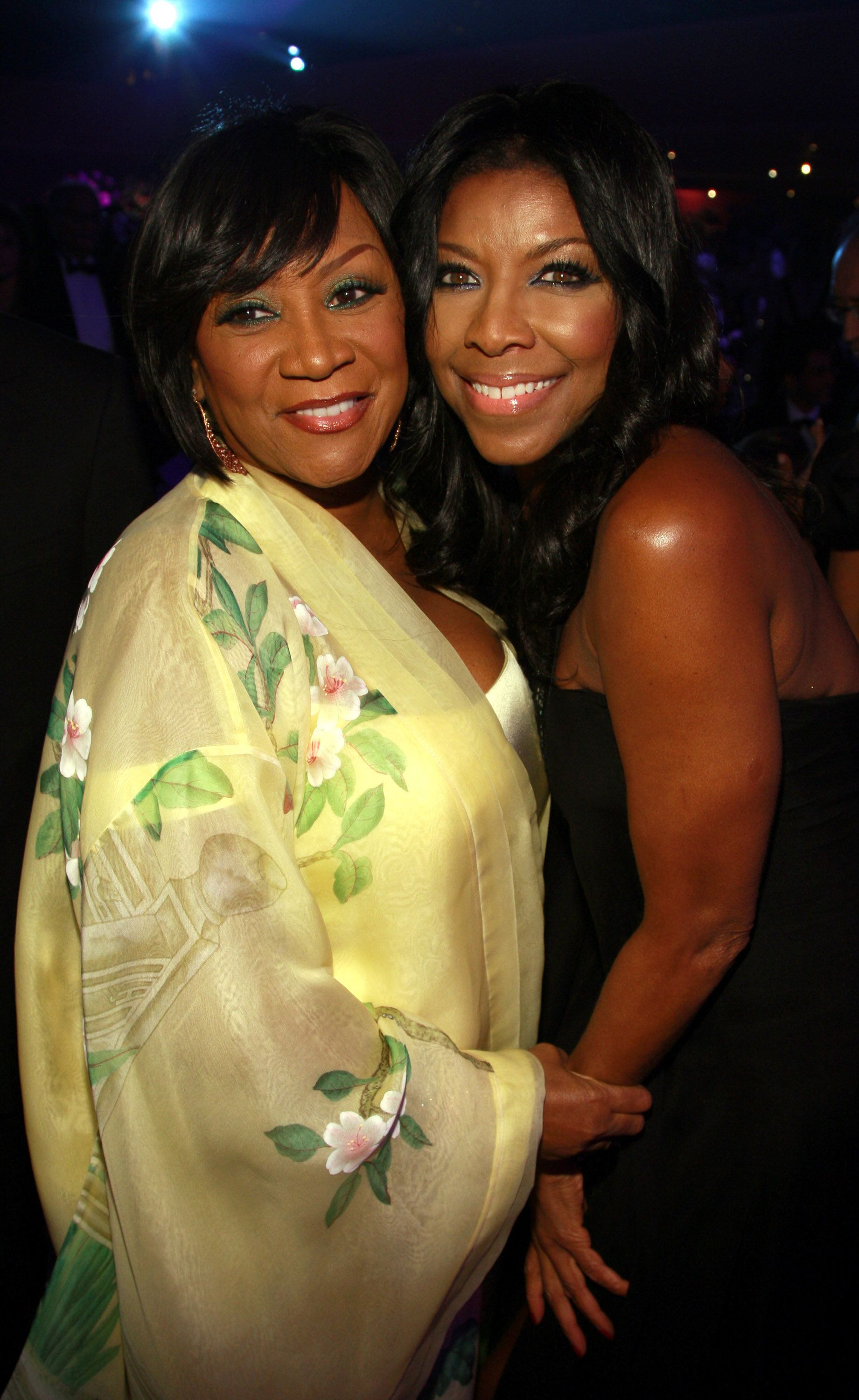 NEW YORK - OCTOBER 29:  Singers Patti LaBelle and Natalie Cole attend the 2007 Angel Ball presented by the G&P Foundation at the Marriott Marquis on October 29, 2007 in New York City.  (Photo by Dimitrios Kambouris/WireImage)