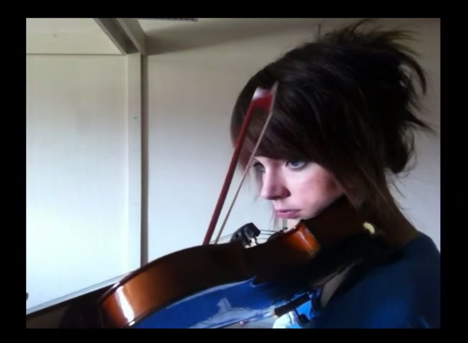 Woman spends two years teaching herself the violin