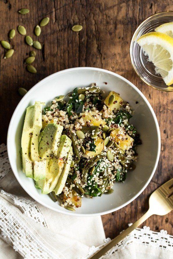 "<strong>Get the <a href=""http://ohsheglows.com/2015/01/21/warm-roasted-winter-salad-bowl/"">Warm Roasted Winter Salad Bowl rec"