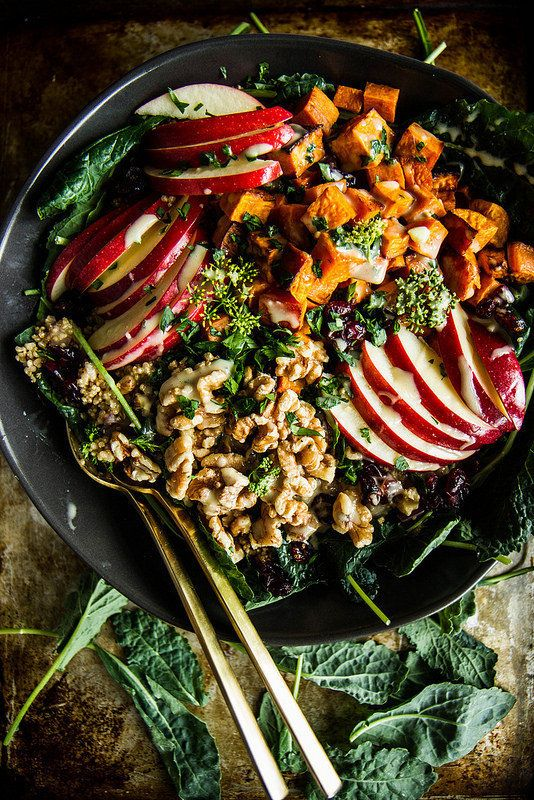 """<strong>Get the <a href=""""http://heatherchristo.com/2015/10/11/spiced-apple-cider-and-sweet-potato-quinoa-bowl/"""">Spiced Apple"""