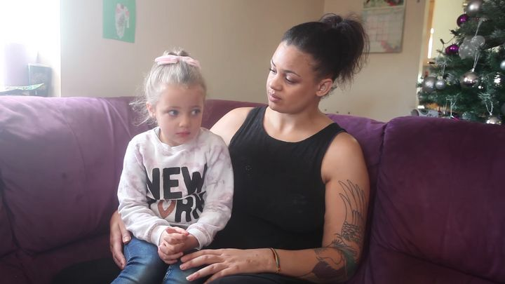 Nicole Langmead and her daughter Kaya are speaking out after they say a cruel prank left the 4-year-old painfully glued to a