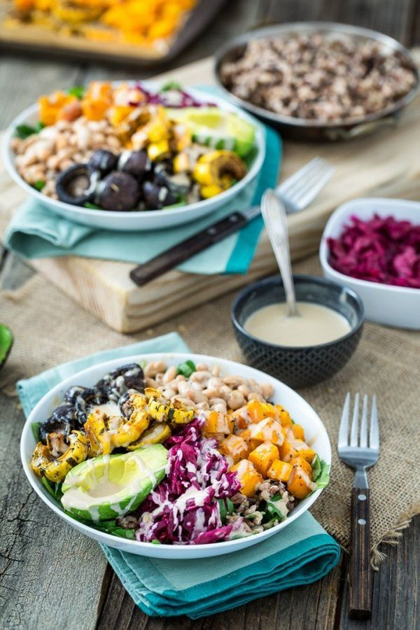 """<strong>Get the <a href=""""http://keepinitkind.com/roasted-rainbow-winter-bowl/"""">Roasted Rainbow Winter Bowl recipe</a>fr"""