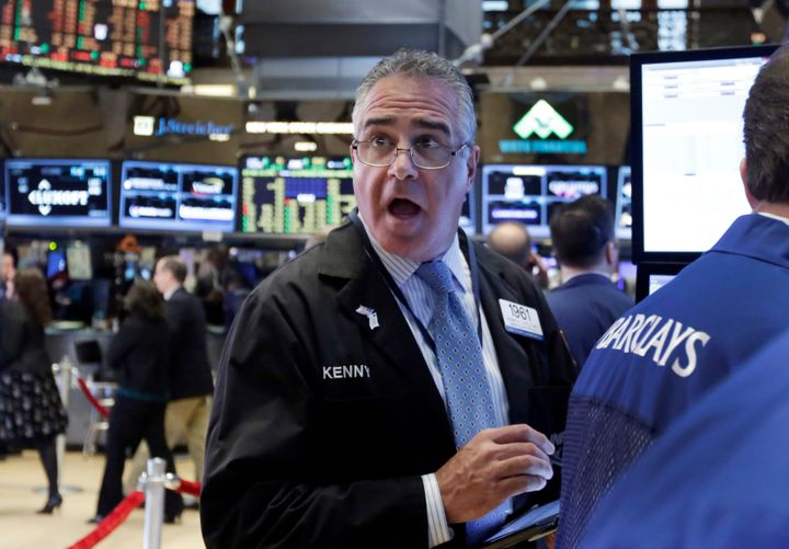 The S&P 500 index was down a little over 2 percenton Monday morning.