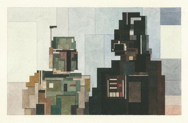 Boba Fett and Darth Vader in all their 8-bit glory.