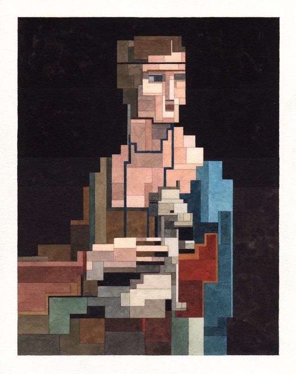 Leonardo da Vinci would be proud of this pixelated weasel.