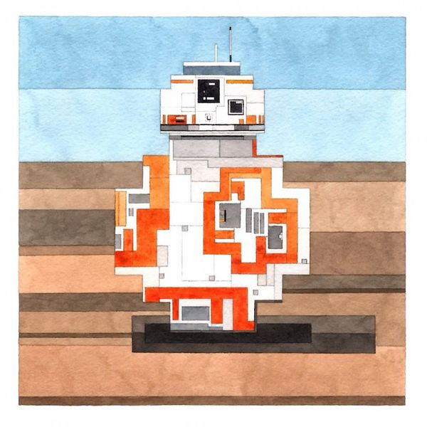 It may be hard for BB-8 to roll around the desert of Jakku with such rigid edges … but it looks cool.
