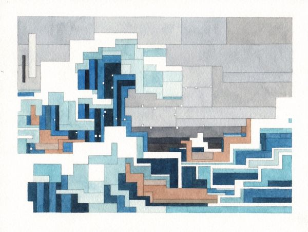 Hokusai's famous piece has never looked slightly less fluid than normal, yet slightly more awesome.