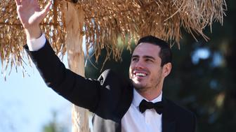 Season 20 bachelor Ben Higgins rides on 'The Bachelor' Love Is the Greatest Journey' float in the 127th Rose Parade in Pasadena, California on January 1, 2016.  AFP PHOTO / ROBYN BECK / AFP / ROBYN BECK        (Photo credit should read ROBYN BECK/AFP/Getty Images)