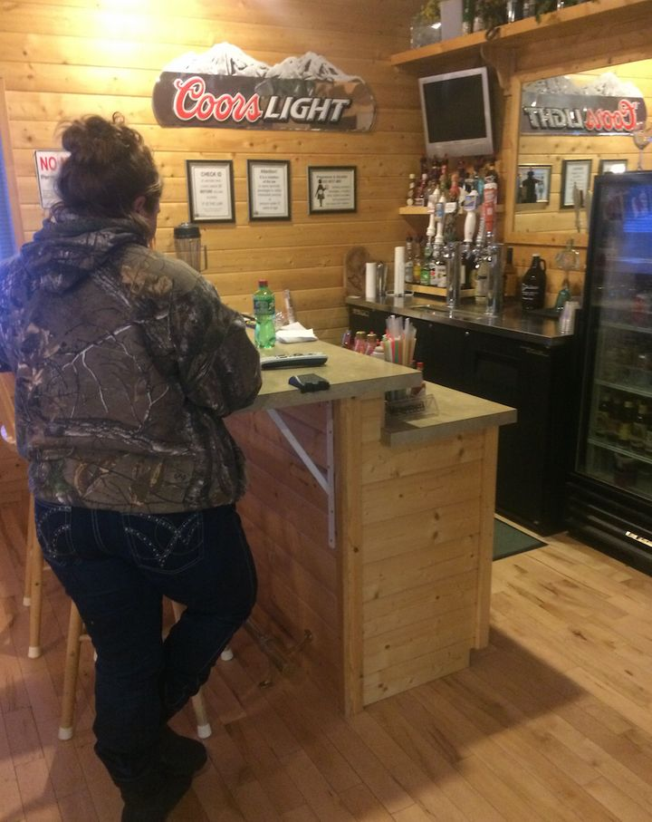 Jennifer, a rancher, at a saloon near the occupation site.