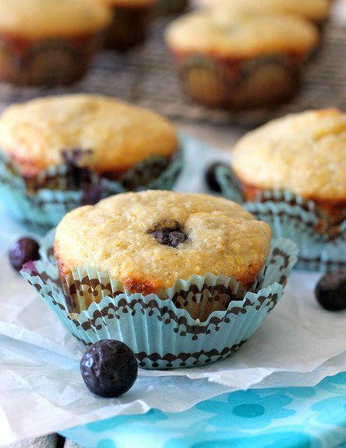 "<strong>Get the <a href=""http://damndelicious.net/2012/10/15/muffinmonday-blueberry-cornbread-muffins/"">Blueberry Cornbread M"
