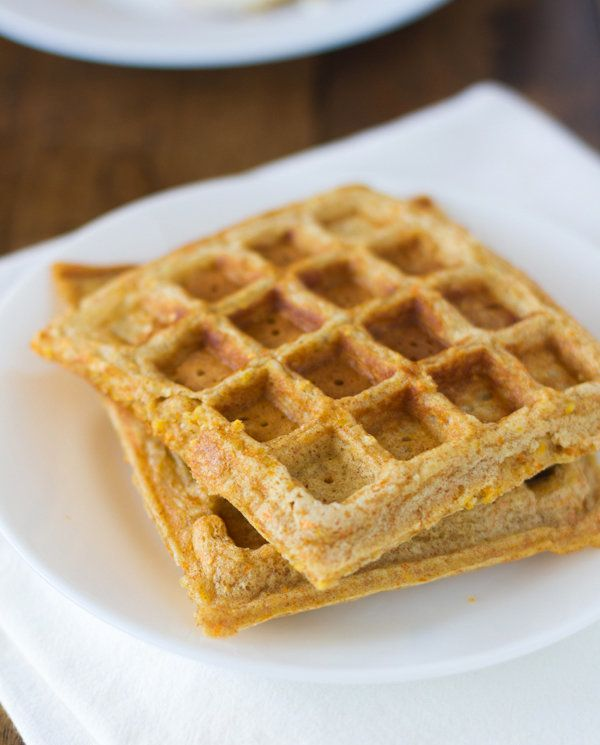"""<strong>Get the <a href=""""http://pinchofyum.com/chili-and-cornbread-waffle-stacks"""">Cornbread Waffles recipe</a> from Pinch of"""