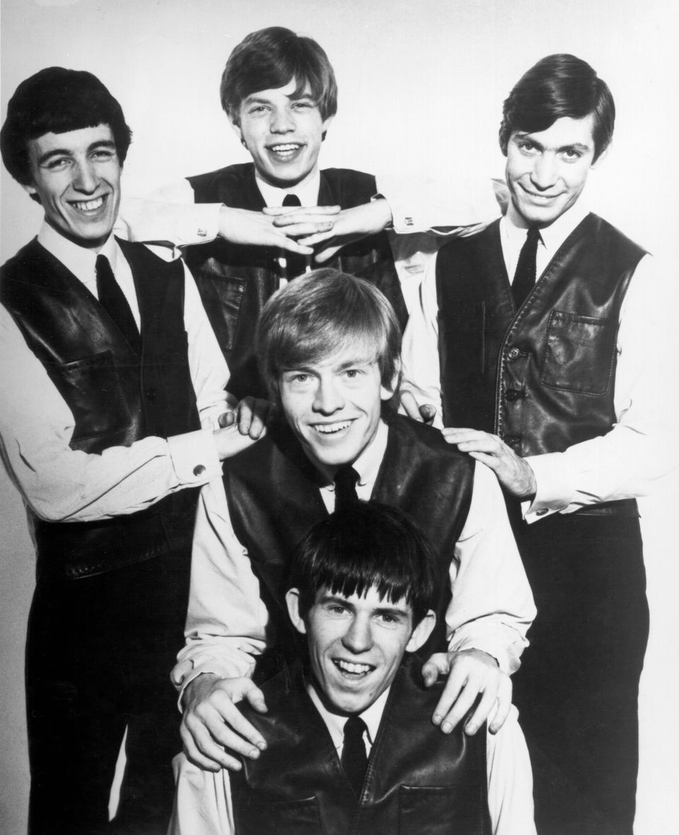 LONDON - CIRCA 1962: Rock and roll band 'The Rolling Stones' pose for a very early portrait circa 1962 in London, England. (L