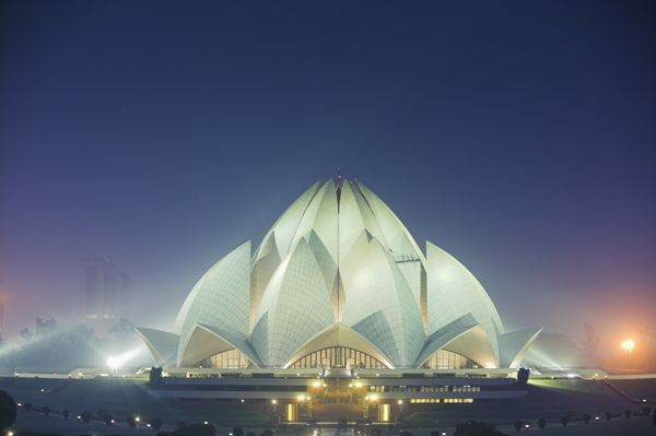 "<a href=""http://www.britannica.com/topic/Lotus-Temple"">The Lotus Temple</a> is a&nbsp;Bahāʾī house of worship, or a mashriq,"