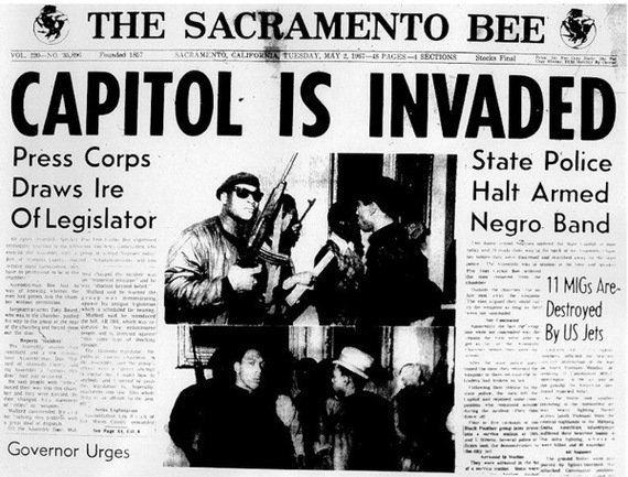 The front page of The Sacramento Bee on the night of the protest.
