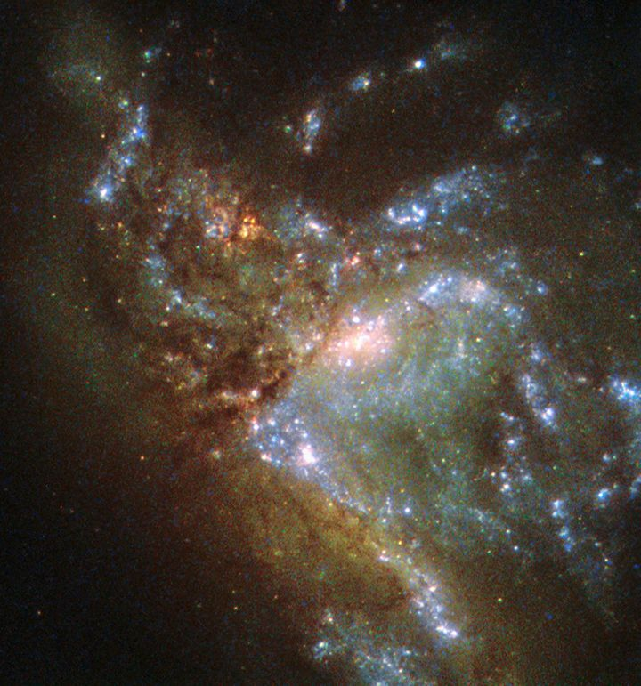 This Breathtaking Photo Shows Two Galaxies Merging Together