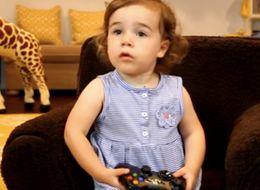 This Adorable Toddler Has NO Time For Super Mario World