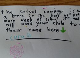 Girl's Brilliant Note Is An A+ Effort To Get Longer Holiday Break