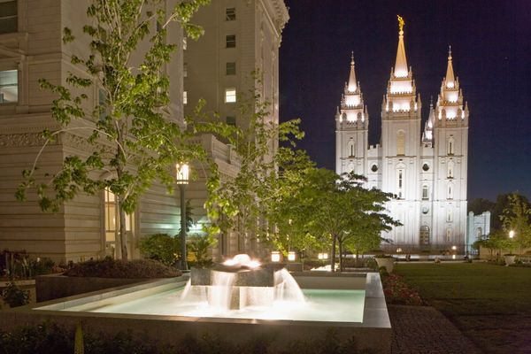 "The Salt Lake Temple is a the <a href=""http://www.ldschurchtemples.com/saltlake/"">largest</a> temple associated with The Chur"