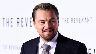 HOLLYWOOD, CA - DECEMBER 16:  Actor Leonardo DiCaprio attends the premiere of 20th Century Fox and Regency Enterprises' 'The Revenant' at the TCL Chinese Theatre on December 16, 2015 in Hollywood, California.  (Photo by Frazer Harrison/Getty Images)