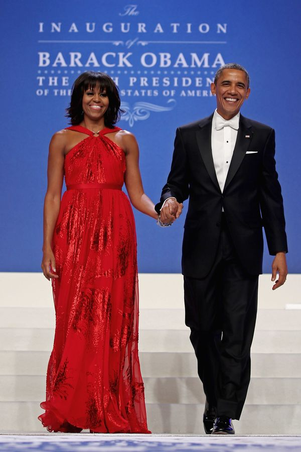 WASHINGTON, DC - JANUARY 21:  U.S. President Barack Obama and first lady Michelle Obama arrive for the Comander-in-Chief's In