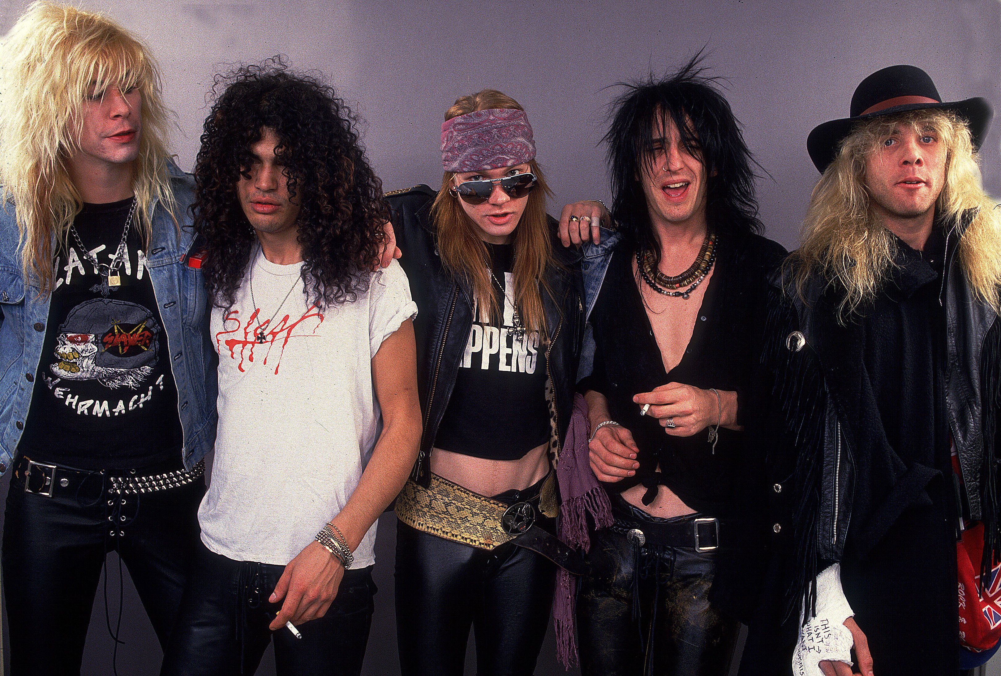Guns and Roses on 12/19/87 in Chicago, Il.  (Photo by Paul Natkin/WireImage)