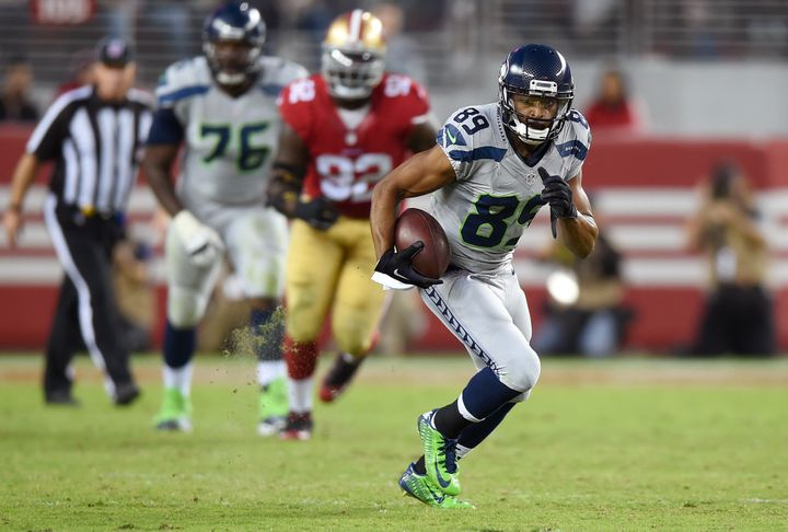 Seattle's Doug Baldwin, undrafted in 2011 out of Stanford, is tied for the league lead with 14 touchdown catches.