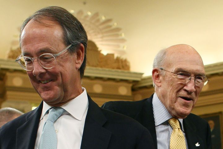 When Erskine Bowles (L) and former Sen. Alan Simpson (R-Wy.) co-chaired President Barack Obama's bipartisan fiscal commi