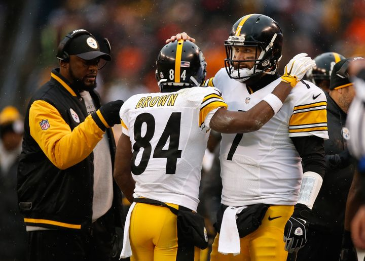 Ben Roethlisberger and Antonio Brown have given Steelerscoach Mike Tomlin plenty to smile about this season.