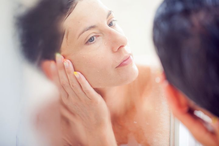 """Don't have time for a full-on facial?Berthelot recommends a few at-home quick-fixes: """"After you exfoliate, you can always steam up your skin in the shower or over abowl of hot water. When you open the pores, it allows for the product to be absorbed deeper into the skin."""""""